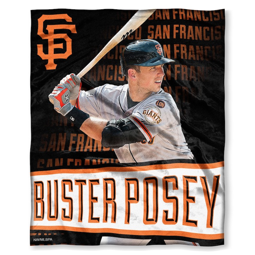 San Francisco Giants Buster Posey Silk Touch Throw Blanket