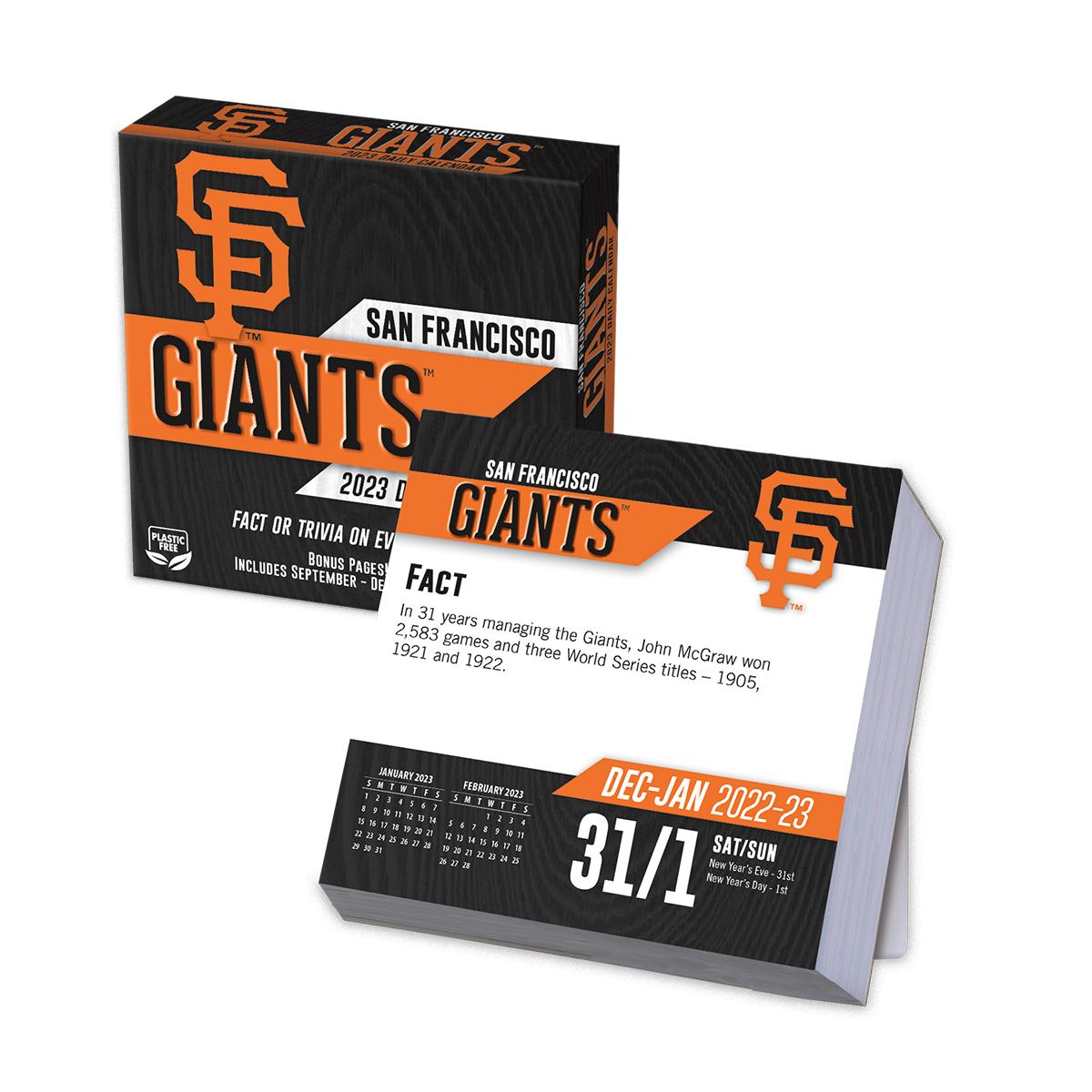 San Francisco Giants 2018 Page A Day Box Calendar Buy At