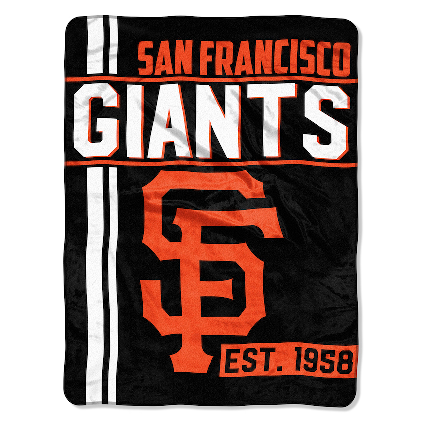 San Francisco Giants Micro Raschel 50 X 60 Team Blanket