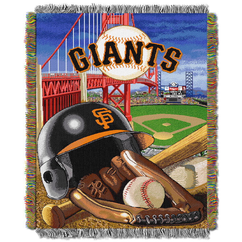 San Francisco Giants Home Field Advantage Series Tapestry Blanket 48 x 60