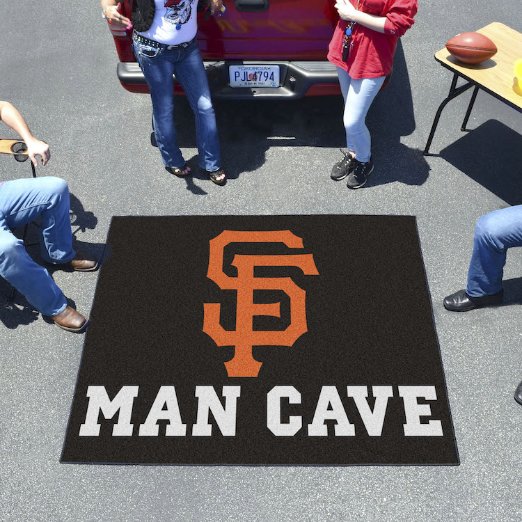San Francisco Giants MAN CAVE TAILGATER 60 x 72 Rug