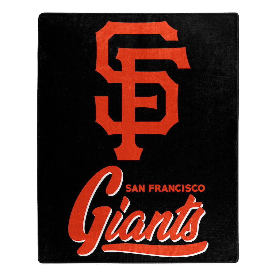 San Francisco Giants Plush Fleece Raschel Blanket 50 X 60