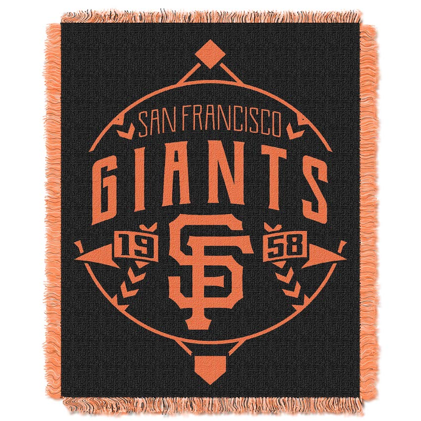 San Francisco Giants MLB Double Play Tapestry Blanket 48 x 60