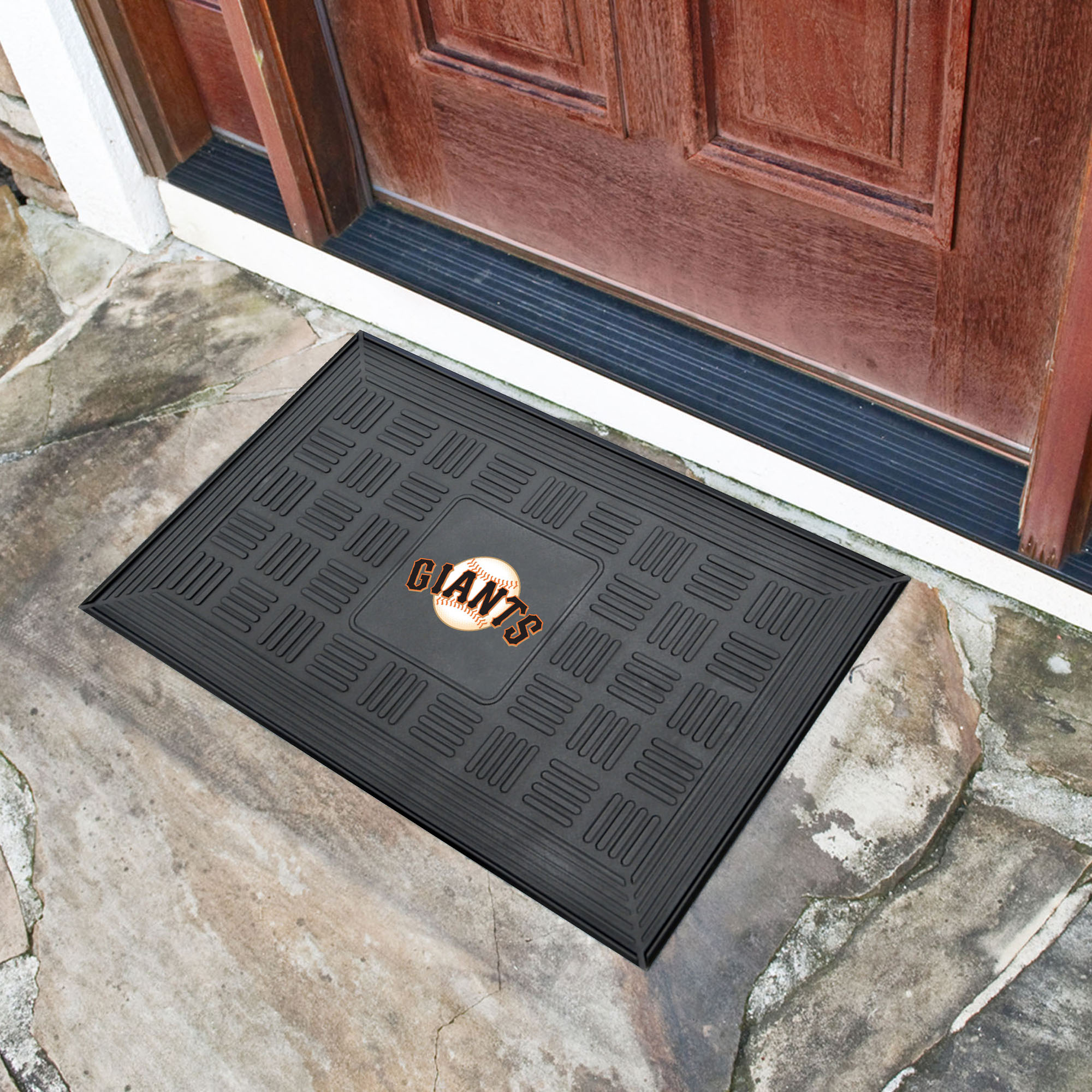 San Francisco Giants Medallion Vinyl Door Mat Buy At Khc