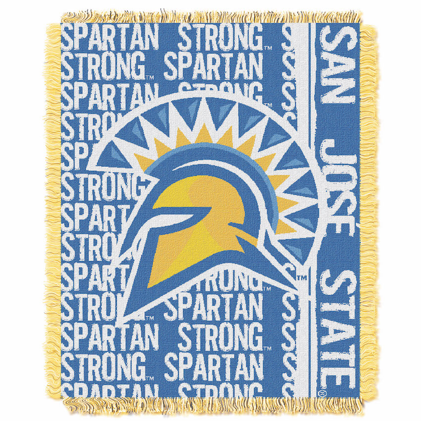 San Jose State Spartans Double Play Tapestry Blanket 48 x 60
