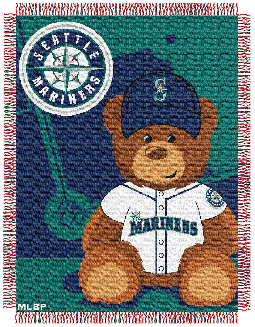 Seattle Mariners Woven Baby Blanket 36 x 48