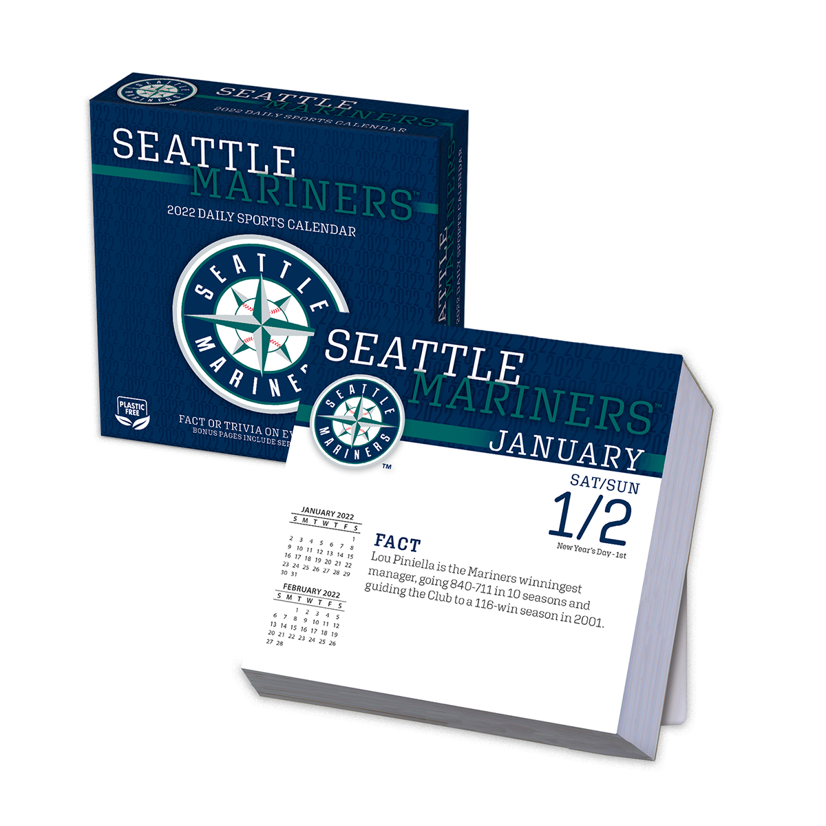 Seattle Mariners 2019 Page-A-Day Box Calendar