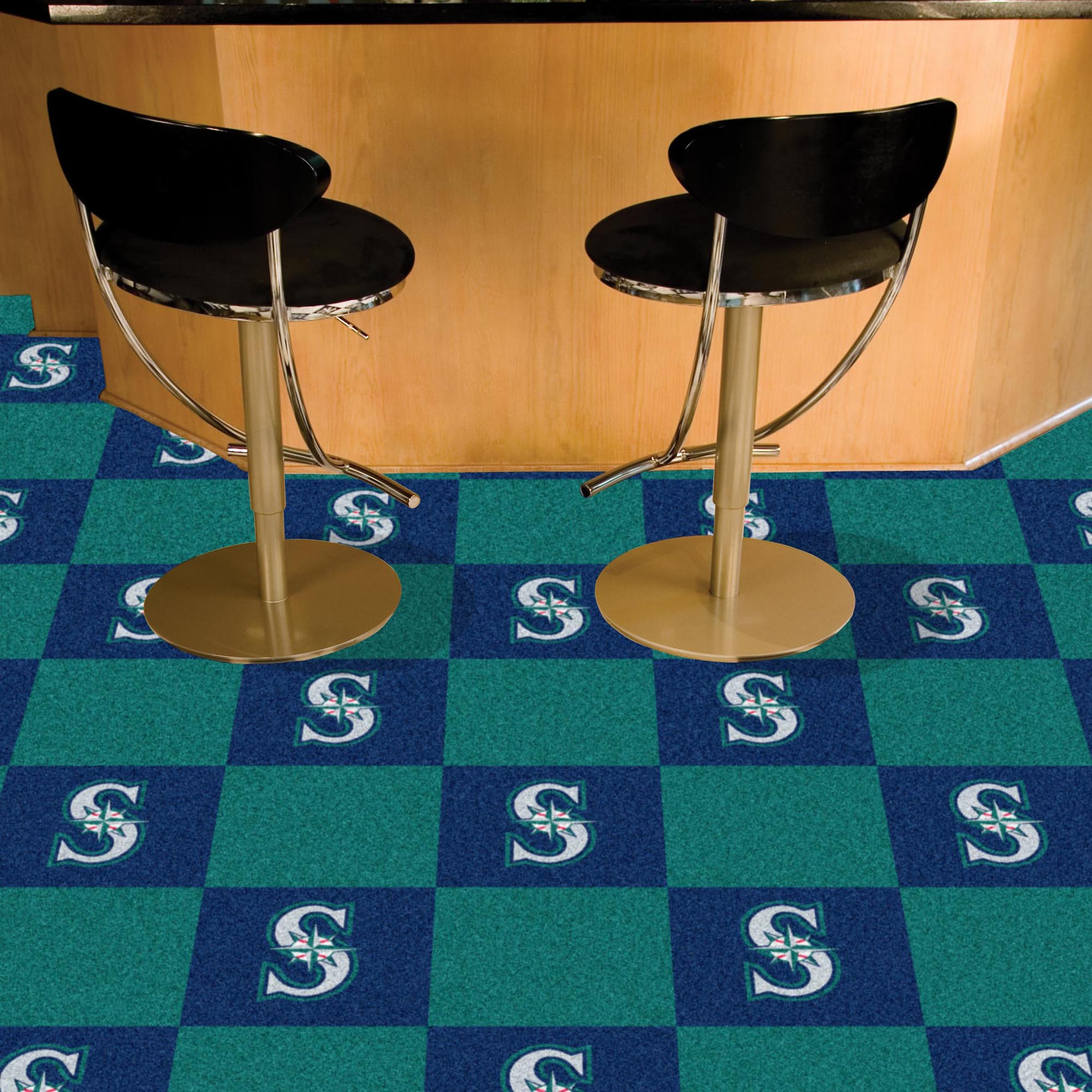 Seattle Mariners Carpet Tiles 18x18 in.