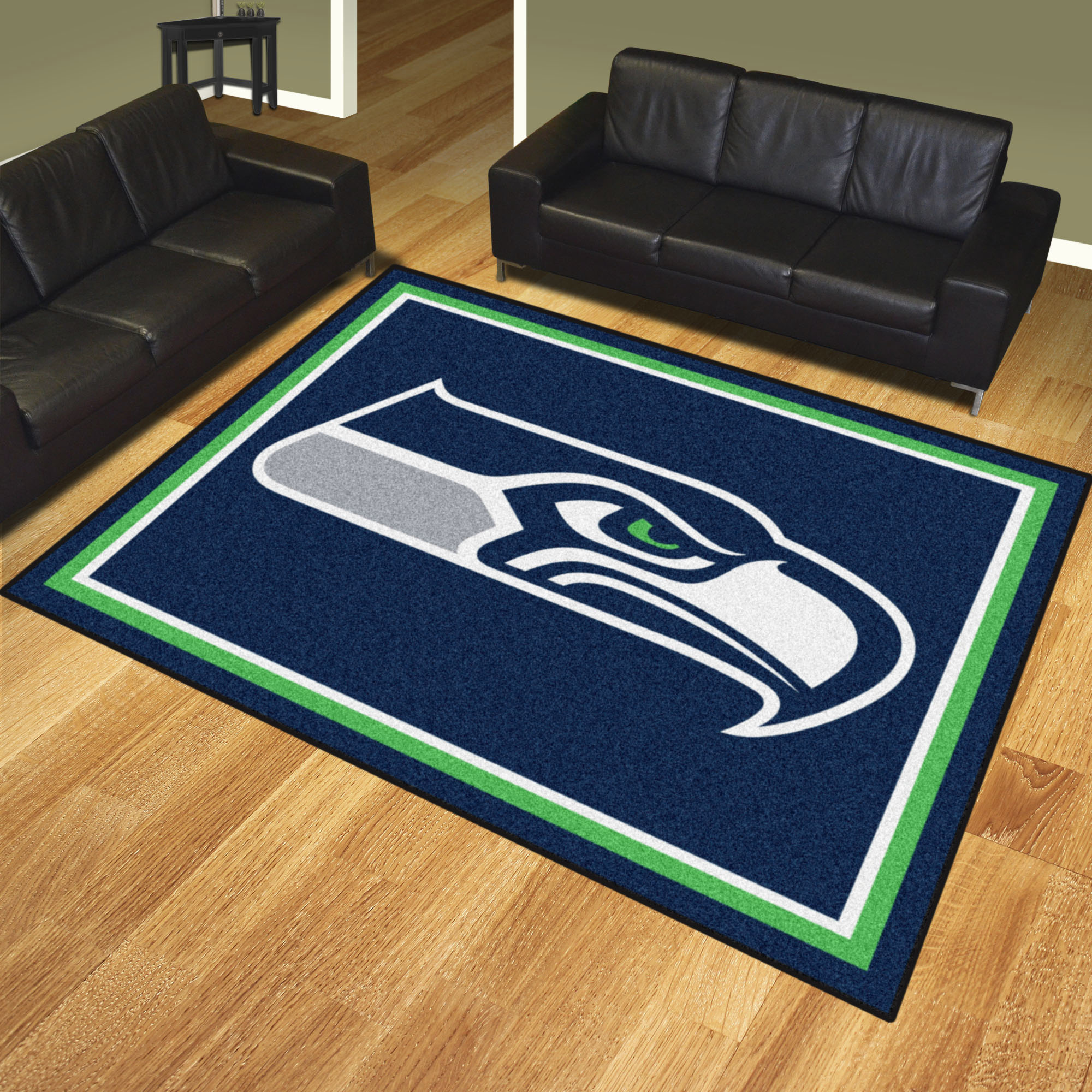 Seattle Seahawks Ultra Plush 8x10 Area Rug Buy At Khc Sports