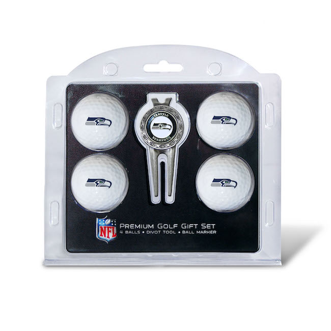 Seattle Seahawks 4 Golf Ball and Divot Tool Set
