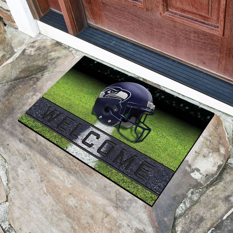 Seattle Seahawks Recycled Crumb Rubber Door Mat