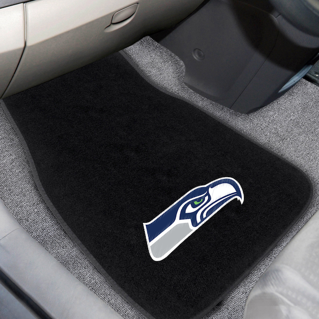 Seattle Seahawks Car Floor Mats 17 x 26 Embroidered Pair