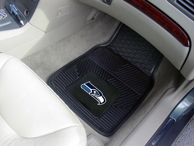 Seattle Seahawks Car Floor Mats 18 x 27 Heavy Duty Vinyl Pair