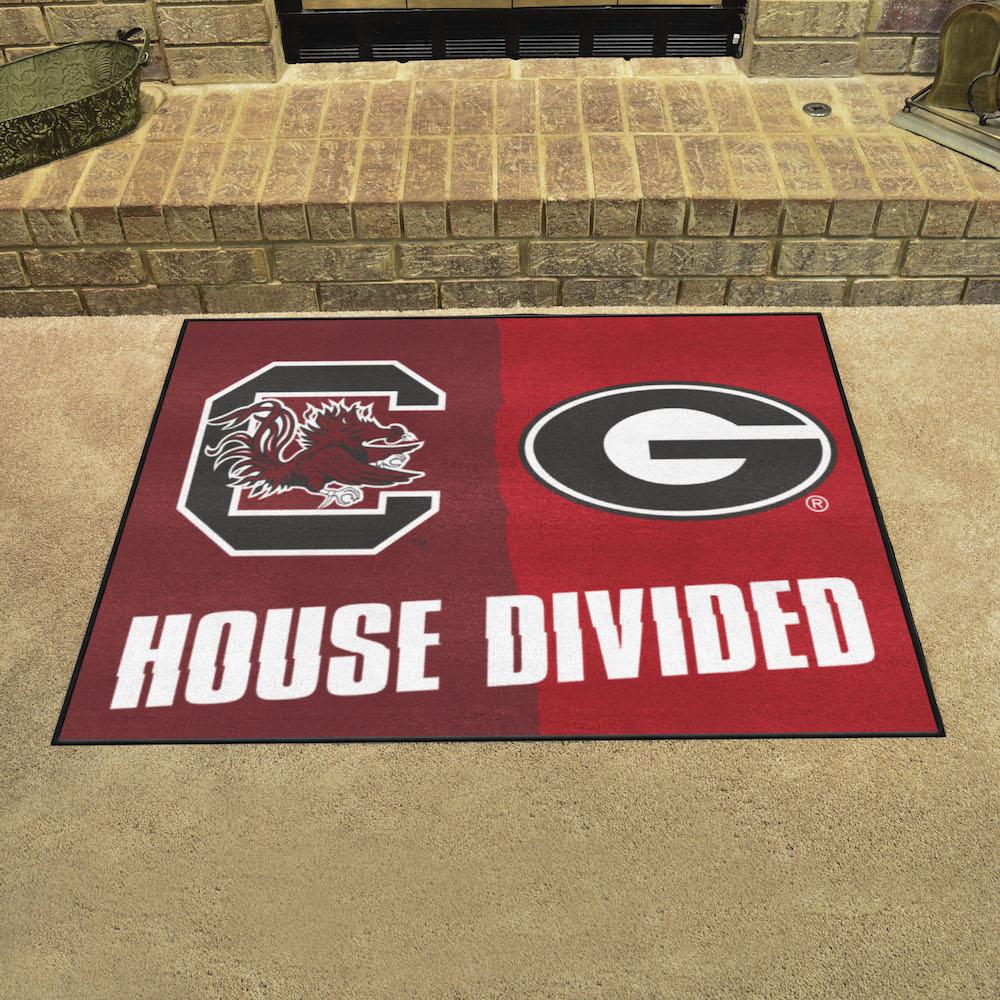 NCAA House Divided Rivalry Rug South Carolina Gamecocks