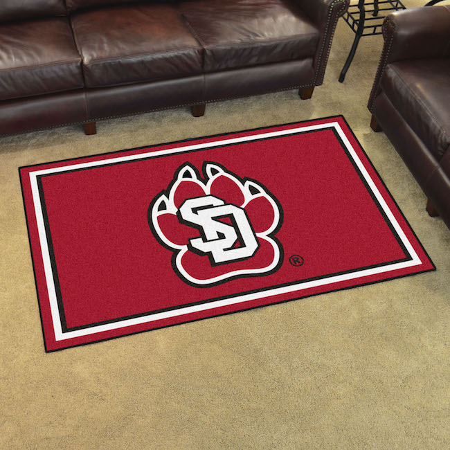 South Dakota Coyotes 4x6 Area Rug