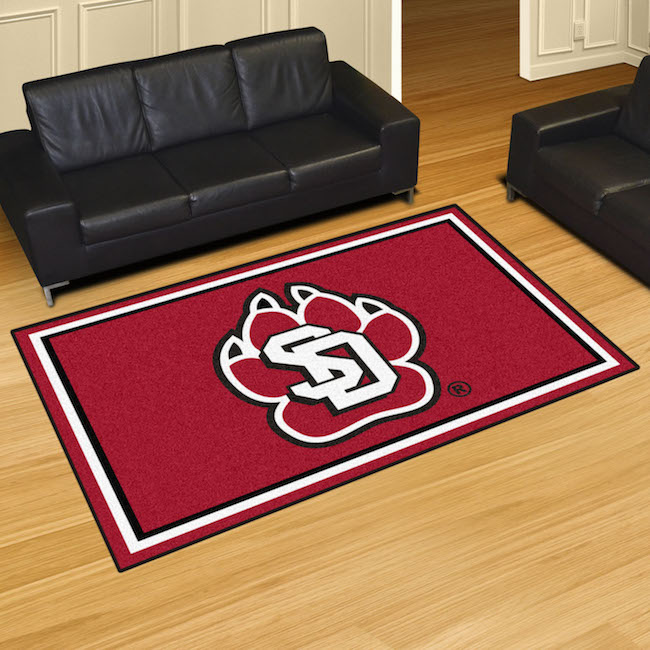 South Dakota Coyotes 5x8 Area Rug