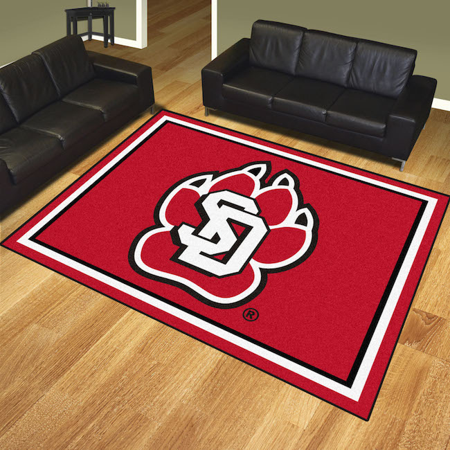 South Dakota Coyotes Ultra Plush 8x10 Area Rug