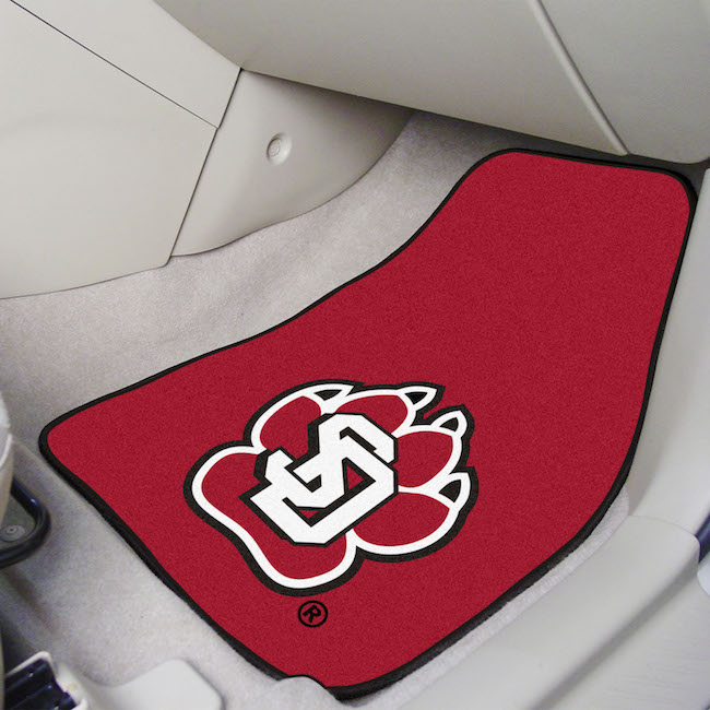 South Dakota Coyotes Car Floor Mats 18 x 27 Carpeted-Pair