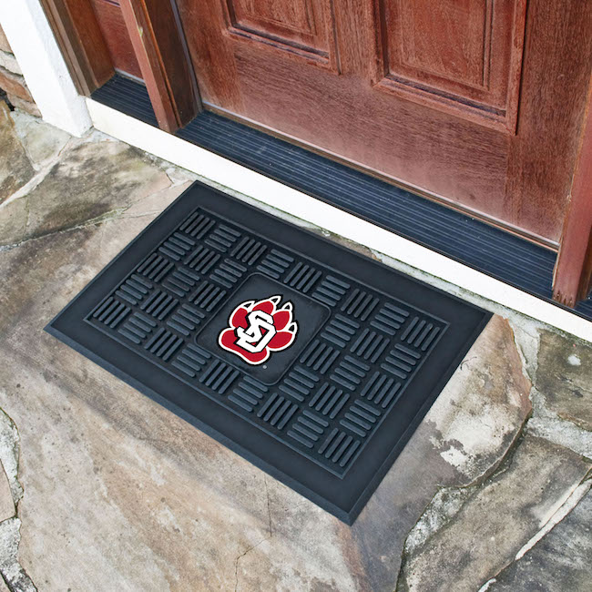South Dakota Coyotes MEDALLION Vinyl Door Mat