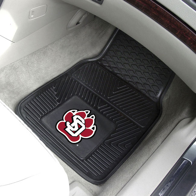 South Dakota Coyotes Car Floor Mats 18 x 27 Heavy Duty Vinyl Pair