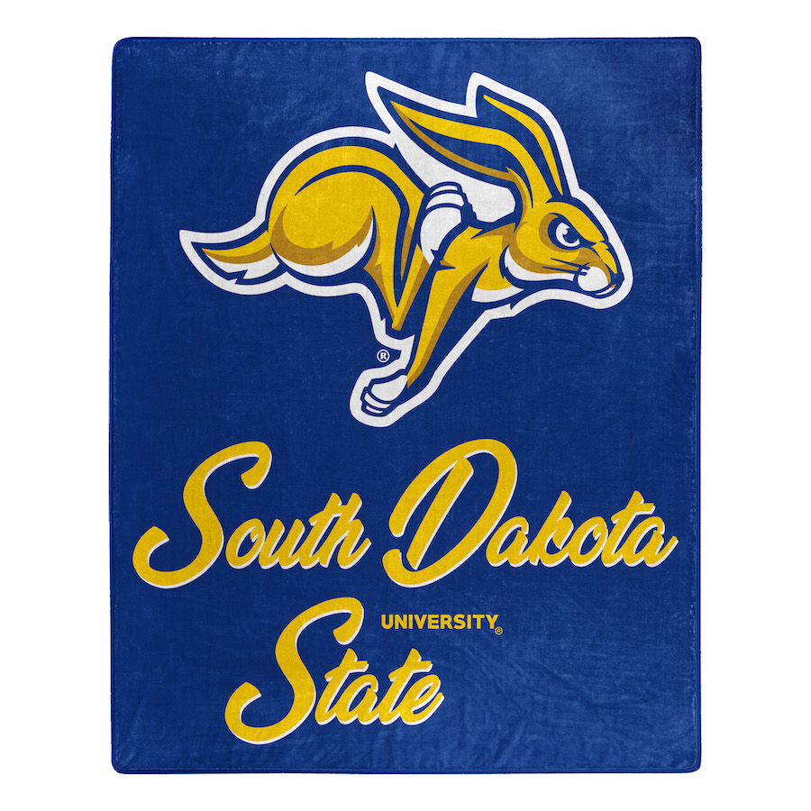 South Dakota State Jackrabbits Plush Fleece Raschel Blanket 50 x 60