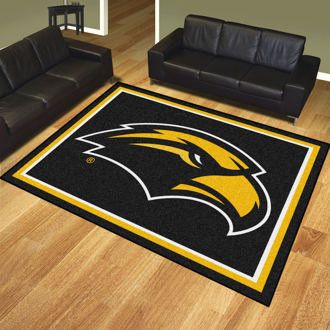 Southern Mississippi Golden Eagles Ultra Plush 8x10 Area Rug