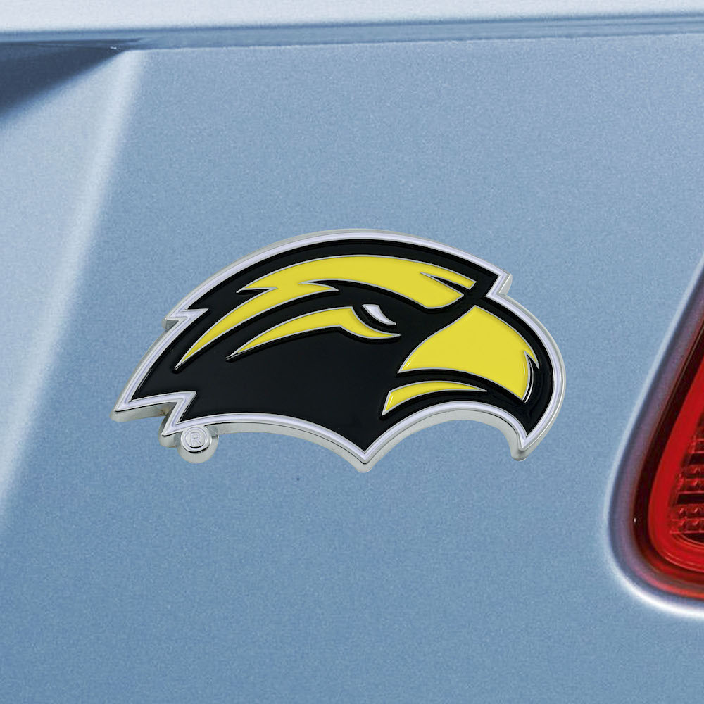 Southern Mississippi Golden Eagles Color Metal Auto Emblem