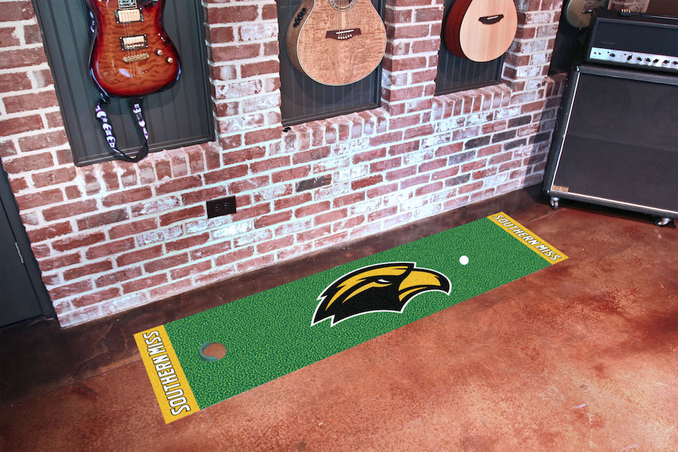 Southern Mississippi Golden Eagles Putting Green Mat 18 x 72