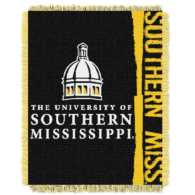 Southern Mississippi Golden Eagles Double Play Tapestry Blanket 48 x 60