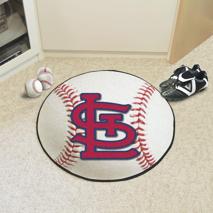 St. Louis Cardinals LOGO Baseball Floor Mat
