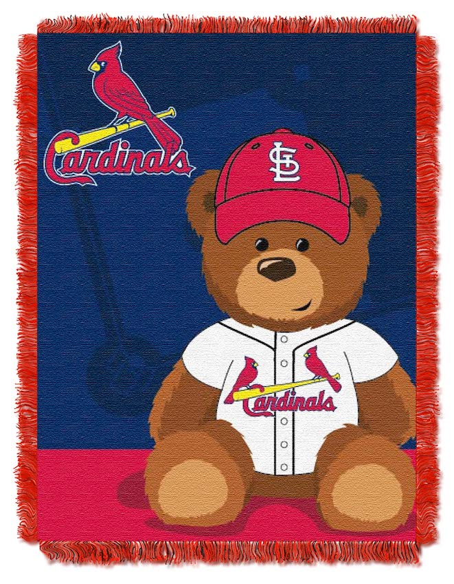 St. Louis Cardinals Woven Baby Blanket 36 x 48