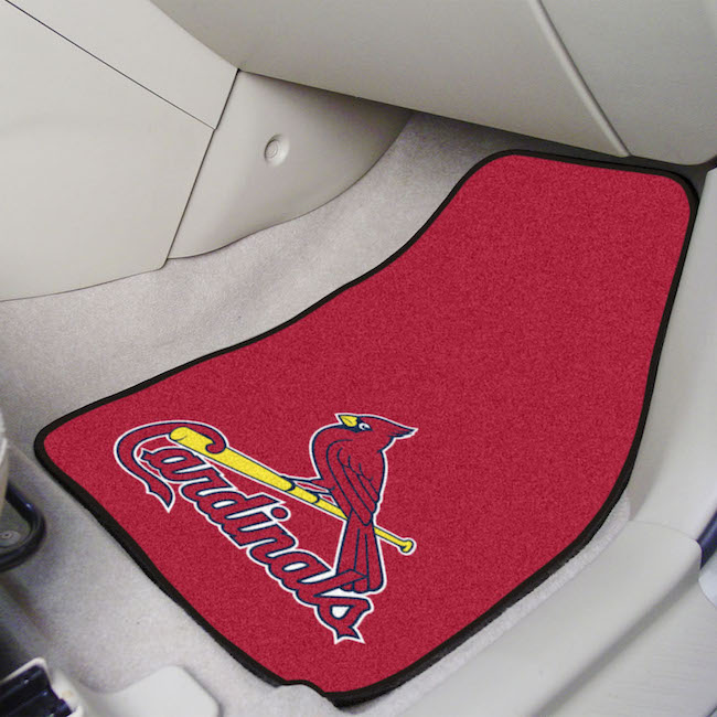 St. Louis Cardinals Car Floor Mats 18 x 27 Carpeted-Pair