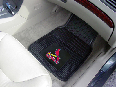 St. Louis Cardinals Car Floor Mats 18 x 27 Heavy Duty Vinyl Pair