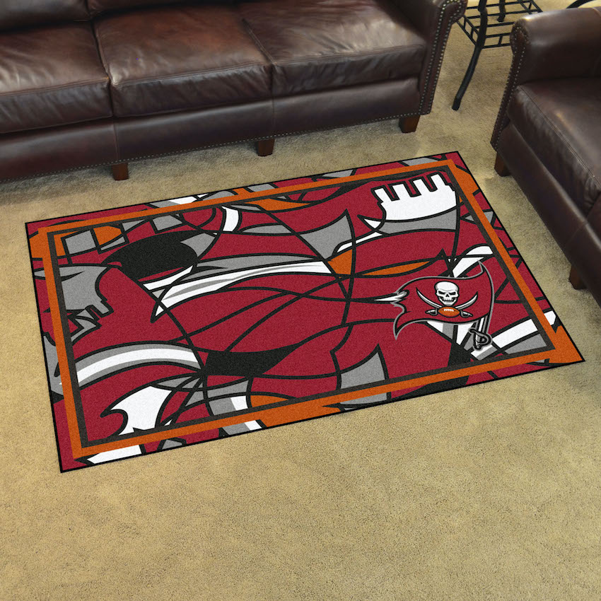 Tampa Bay Buccaneers 4x6 Quick Snap Area Rug