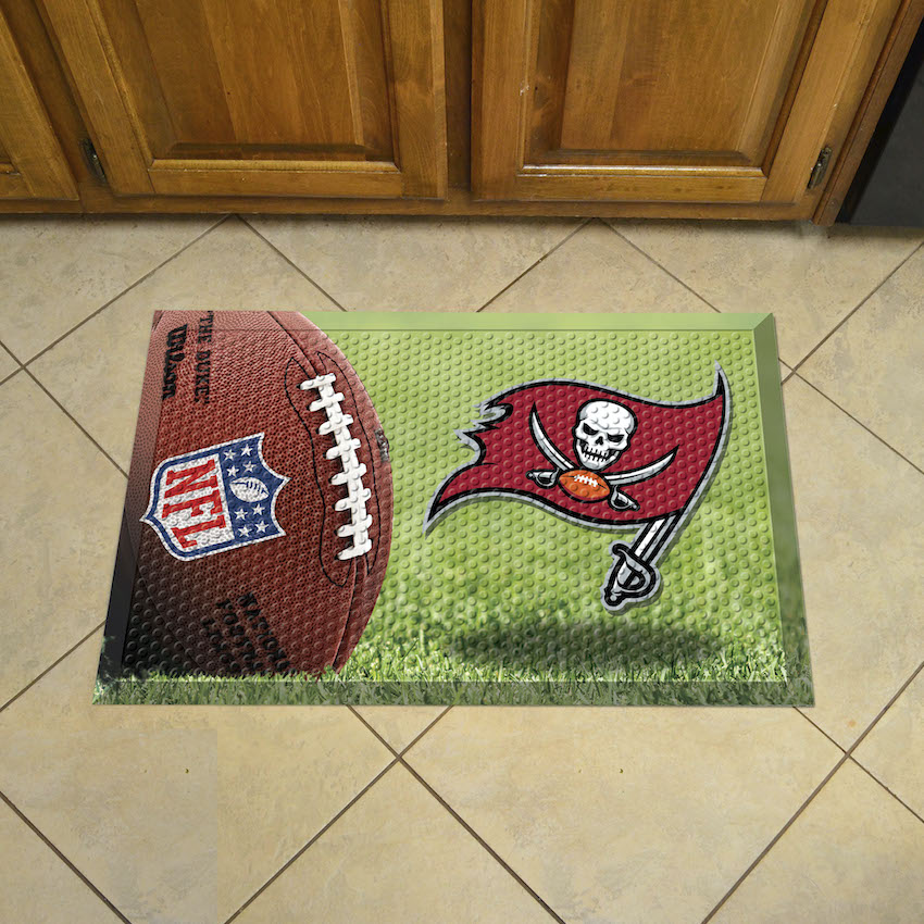 Tampa Bay Buccaneers Ball Style SCRAPER Door Mat