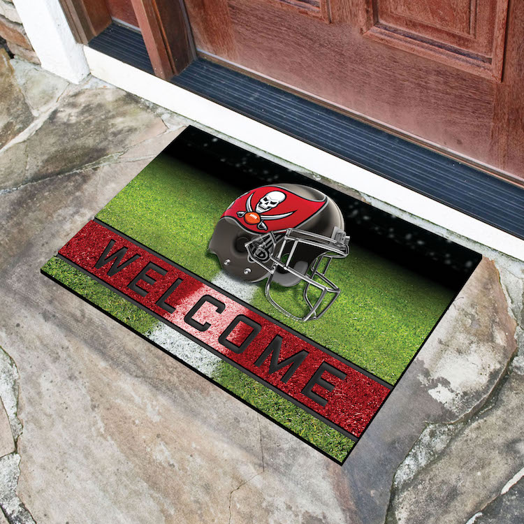 Tampa Bay Buccaneers Recycled Crumb Rubber Door Mat