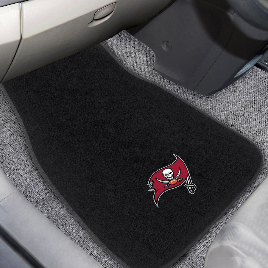 Tampa Bay Buccaneers Car Floor Mats 17 x 26 Embroidered Pair