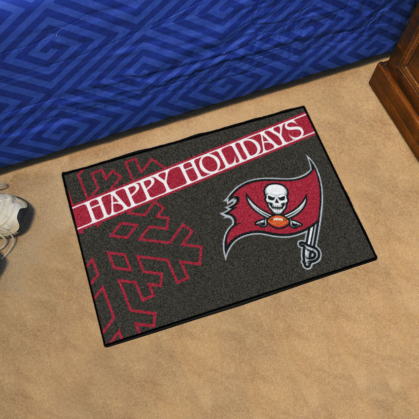 Tampa Bay Buccaneers Holiday Floor Mat