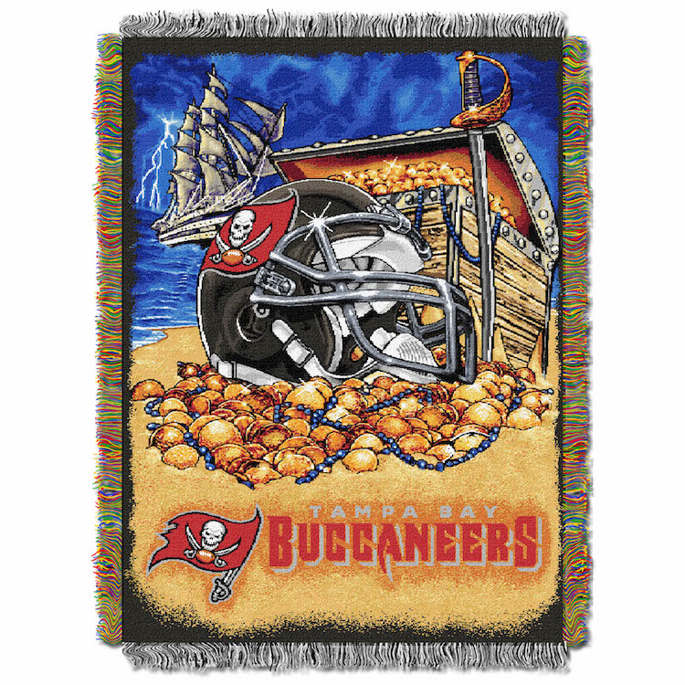 Tampa Bay Buccaneers Home Field Advantage Series Tapestry Blanket 48 x 60