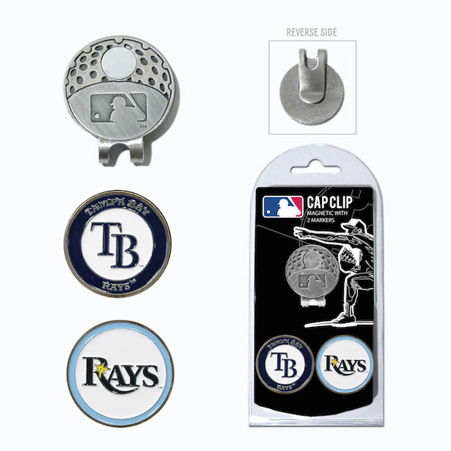 Tampa Bay Rays Hat Clip With 2 Ball Markers
