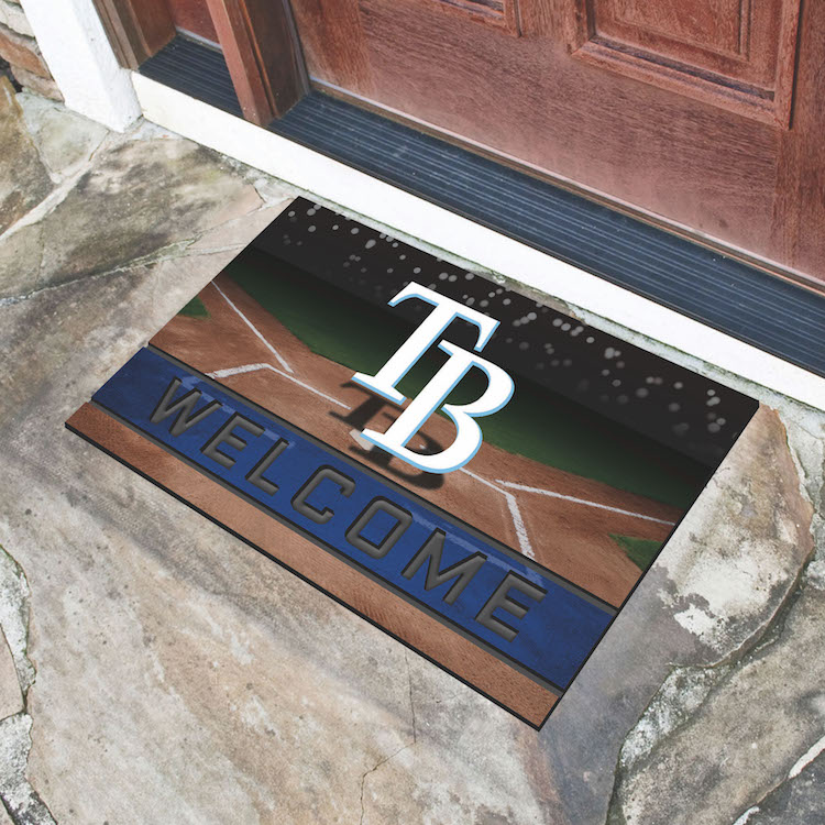 Tampa Bay Rays Recycled Crumb Rubber Door Mat