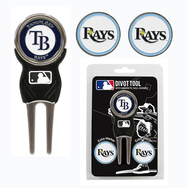 Tampa Bay Rays 3 Marker Signature Divot Tool Pack