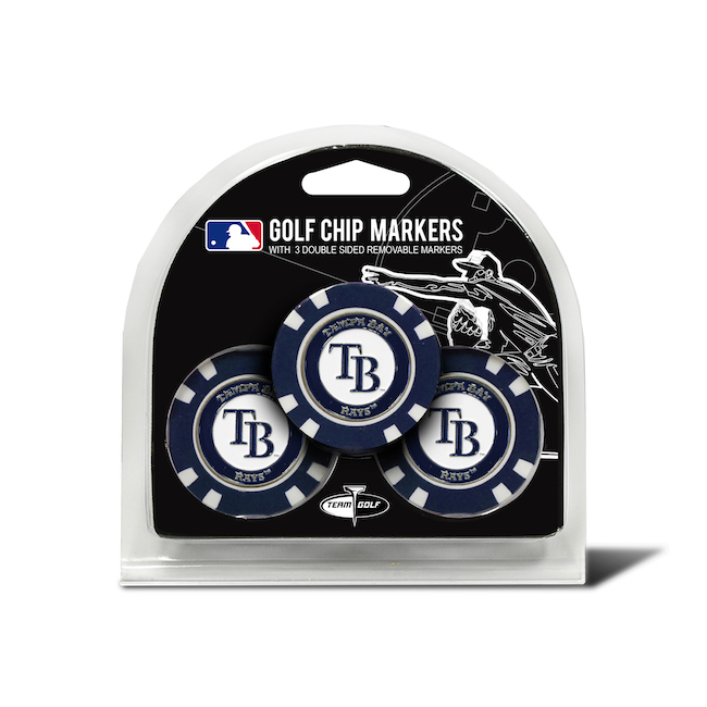 Tampa Bay Rays 3 Pack Golf Chips