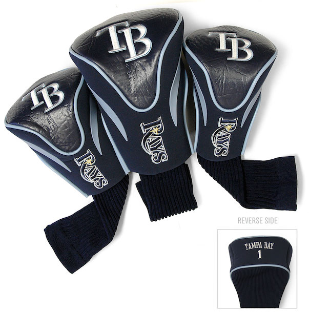 Tampa Bay Rays 3 Pack Contour Headcovers