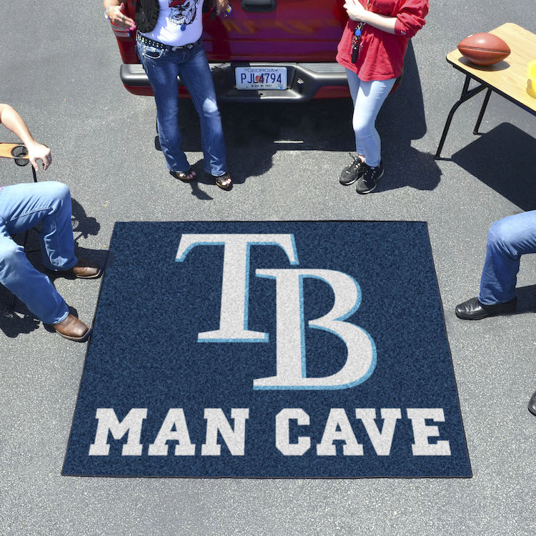 Tampa Bay Rays MAN CAVE TAILGATER 60 x 72 Rug