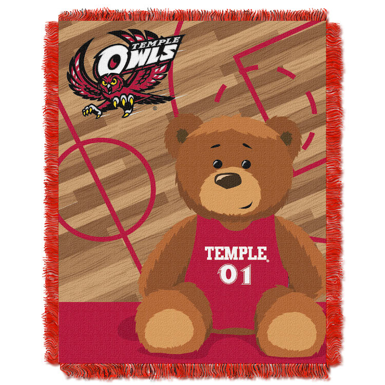 Temple Owls Woven Baby Blanket 36 x 48