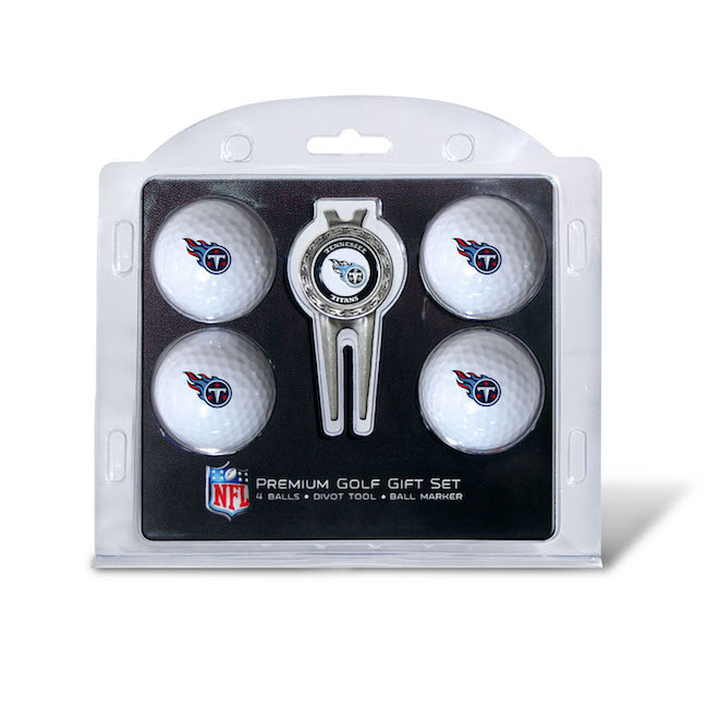 Tennessee Titans 4 Golf Ball and Divot Tool Set
