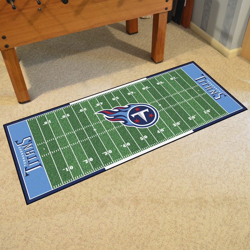 Tennessee Titans Football Field Runner 30 X 72 Floor Mat