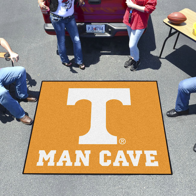 Man Cave Cutz : Tennessee volunteers man cave tailgater rug buy