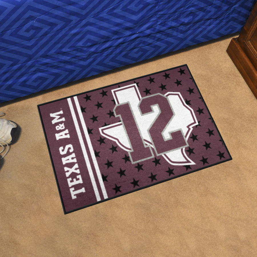 Texas A&M Aggies 20 x 30 12th MAN Starter Floor Mat